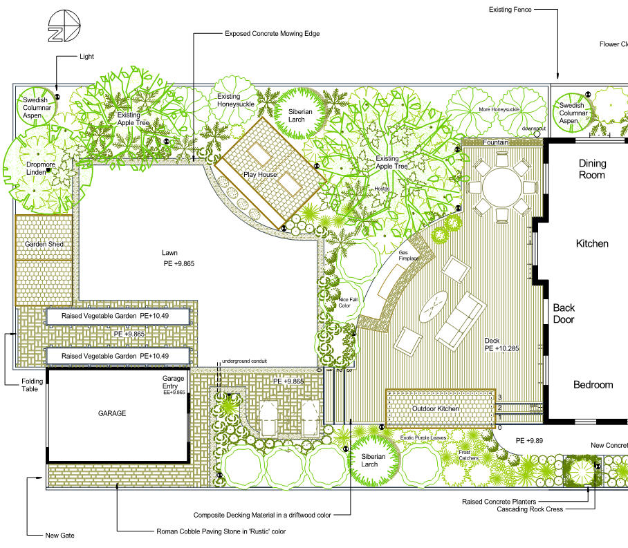 Surge pack landscaping designs online for Landscape blueprints
